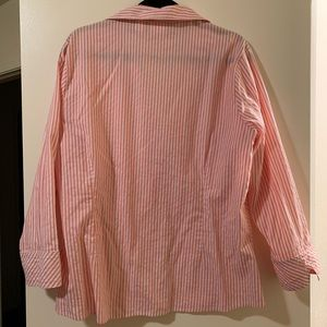 Stripped long sleeve blouse